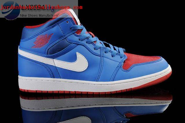 Sale Air Jordans 1 Retro Blue White Red Shoes On 1TOPJORDAN