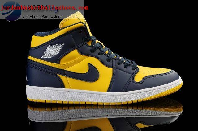 Sale Air Jordans 1 Retro Yellow Dark Blue Shoes On 1TOPJORDAN