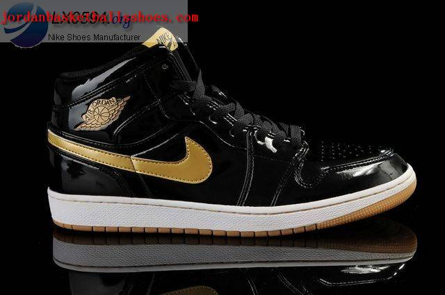 Sale Air Jordans 1 Retro Black Gold Shoes On 1TOPJORDAN