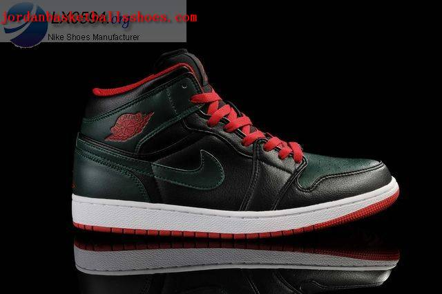 Sale Air Jordans 1 Retro black dark green white Shoes On 1TOPJORDAN