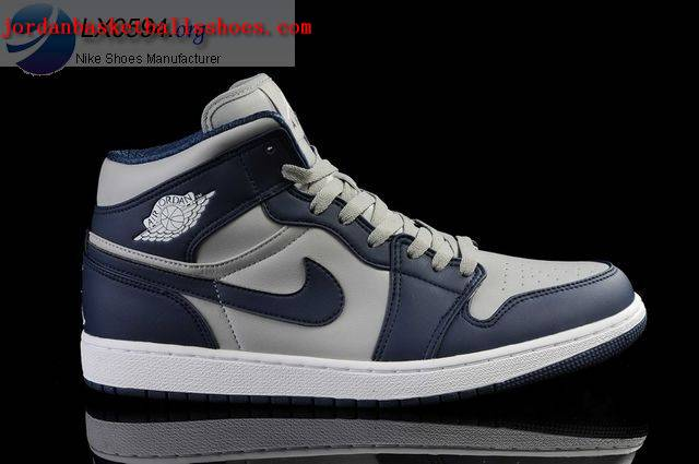 Sale Air Jordans 1 Retro grey dark blue Shoes On 1TOPJORDAN