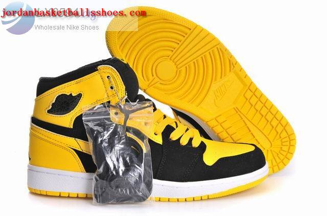 Sale Air Jordans 1 Retro Black Yellow Shoes On 1TOPJORDAN