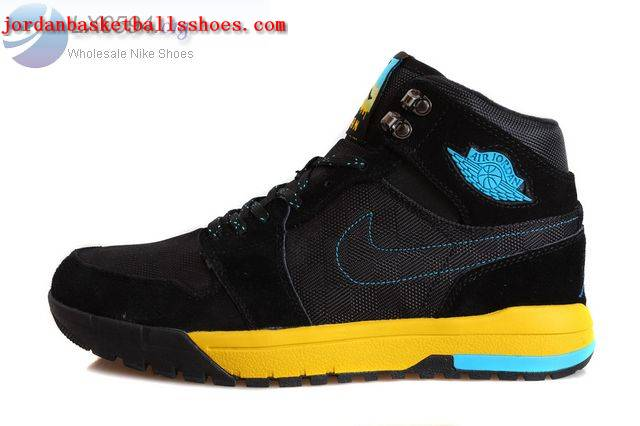 Sale Air Jordans 1 Trek Black Yellow Shoes On 1TOPJORDAN