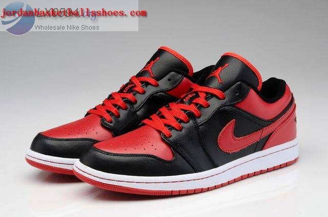 Sale Air Jordans 1 Low bred black red Shoes On 1TOPJORDAN