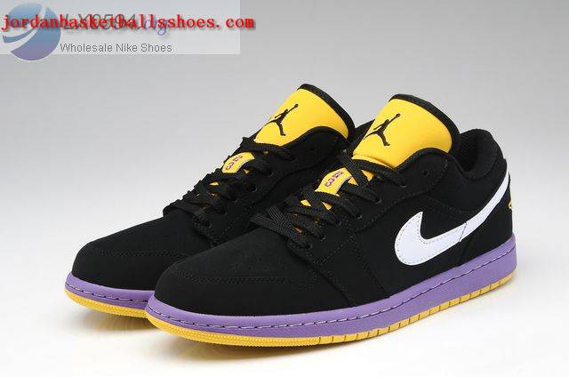 Sale Air Jordans 1 Low black white purple yellow Shoes On 1TOPJORDAN