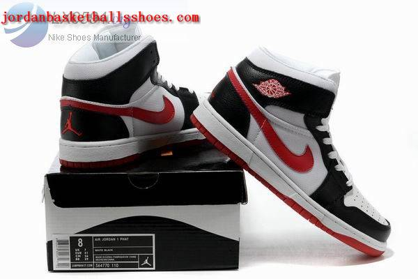 Sale Retro Air Jordans 1 phat white black red Shoes On 1TOPJORDAN
