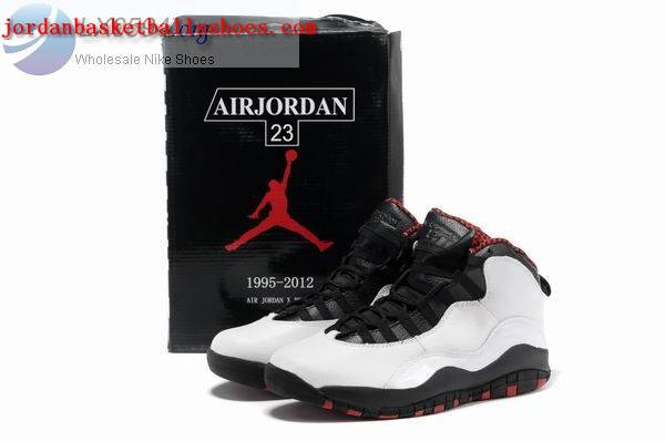 Sale Air Jordans 10 retro white black sneakers Shoes On 1TOPJORDAN
