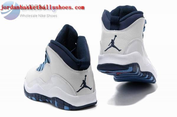 Sale Air Jordans 10 retro white dark blue Shoes On 1TOPJORDAN