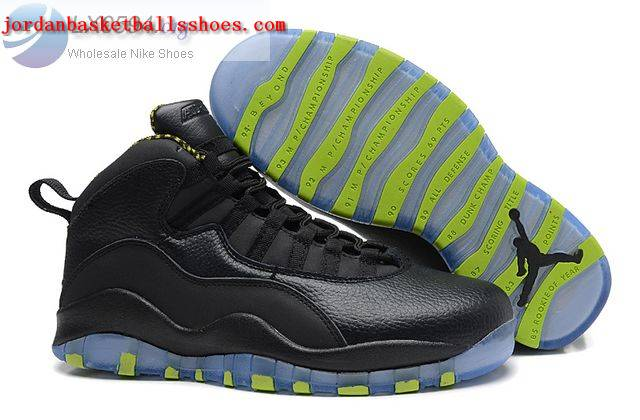Sale Air Jordans 10 Retro Black Venom Green Shoes On 1TOPJORDAN