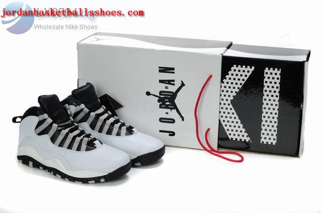 Sale Air Jordans retro 10 white black sneakers Shoes On 1TOPJORDAN