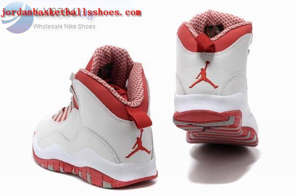 Sale Jordan retro 10 white red basketball sneakers Shoes On 1TOPJORDAN