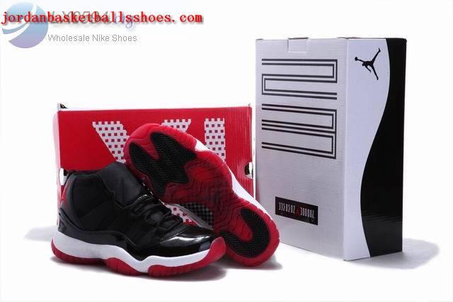 Sale Retro Jordan 11 Black white red sneakers Shoes On 1TOPJORDAN