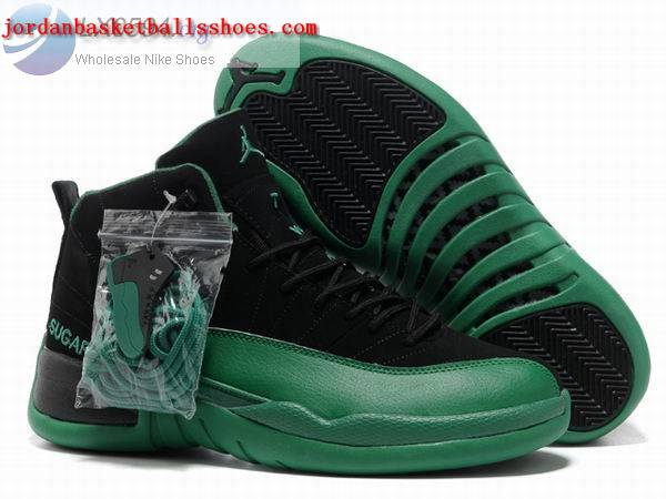 Sale Air Jordans 12 Retro black green Shoes On 1TOPJORDAN