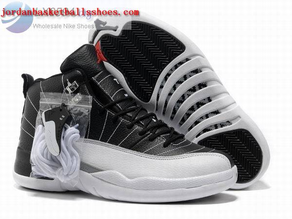 Sale Air Jordans 12 Retro Mens black white Shoes On 1TOPJORDAN