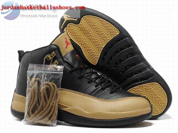 Sale Air Jordans 12 Retro black gold Shoes On 1TOPJORDAN