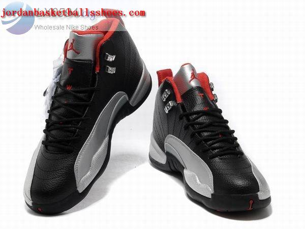Sale Air Jordans 12 Retro black silver Shoes On 1TOPJORDAN