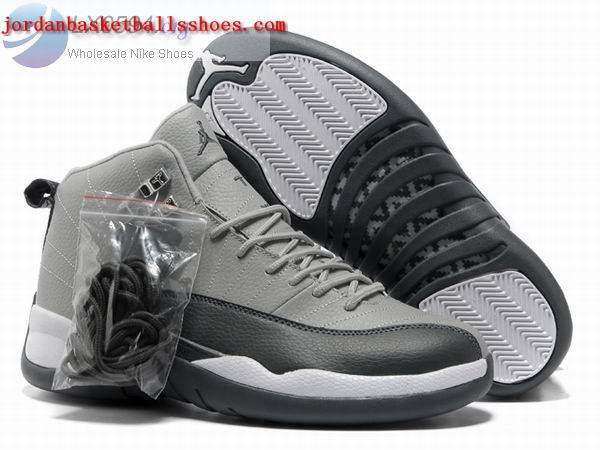 Sale Air Jordans 12 Retro Grey black Shoes On 1TOPJORDAN
