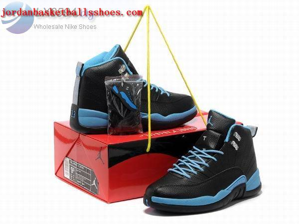 Sale Air Jordans 12 Retro Black blue Shoes On 1TOPJORDAN