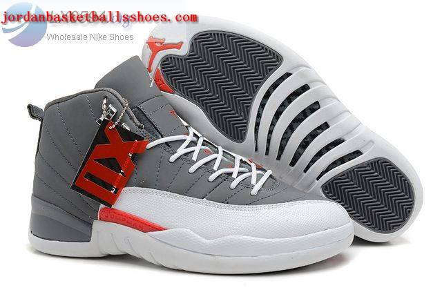 Sale Air Jordans 12 Retro Grey white Shoes On 1TOPJORDAN