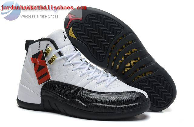 Sale Air Jordans 12 Retro Taxi White Black Shoes On 1TOPJORDAN