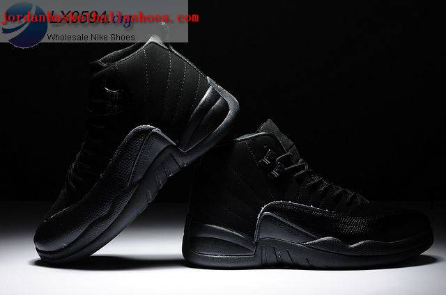 Sale Air Jordans 12 Retro OVO All Black Shoes On 1TOPJORDAN