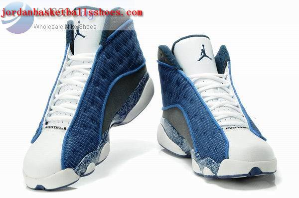 Sale Air Jordans 13 Retro blue white grey Shoes On 1TOPJORDAN