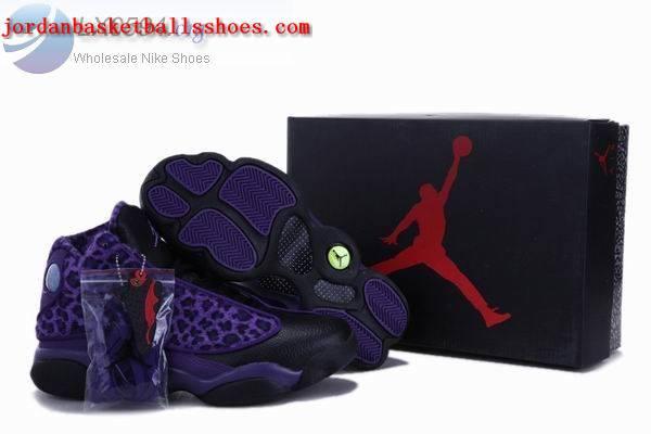 Sale Air Jordans 13 Retro leopard print puple Shoes On 1TOPJORDAN