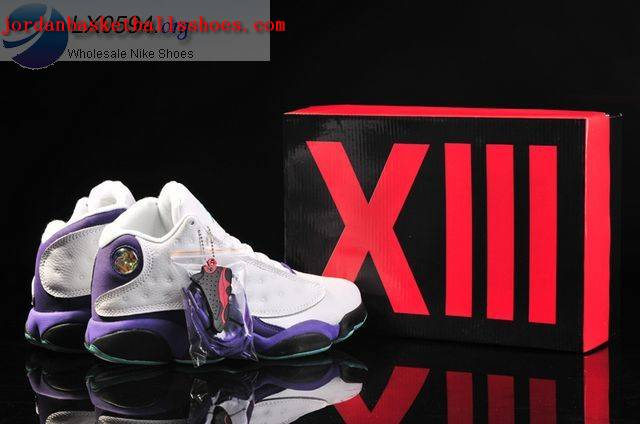 Sale Air Jordans 13 Retro white purple black Shoes On 1TOPJORDAN