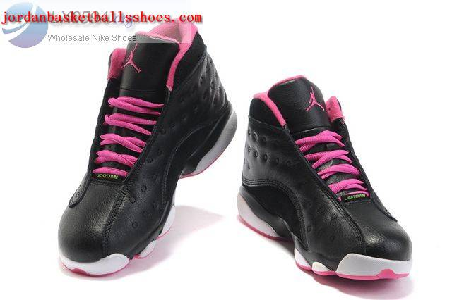 Sale Air Jordans 13 Women black white pink Shoes On 1TOPJORDAN