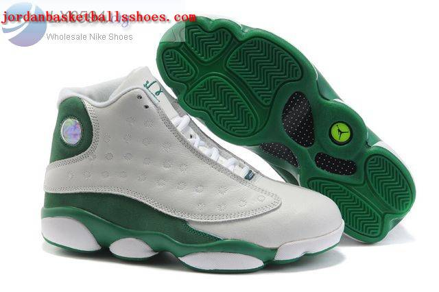 Sale Air Jordans 13 Women white green Shoes On 1TOPJORDAN
