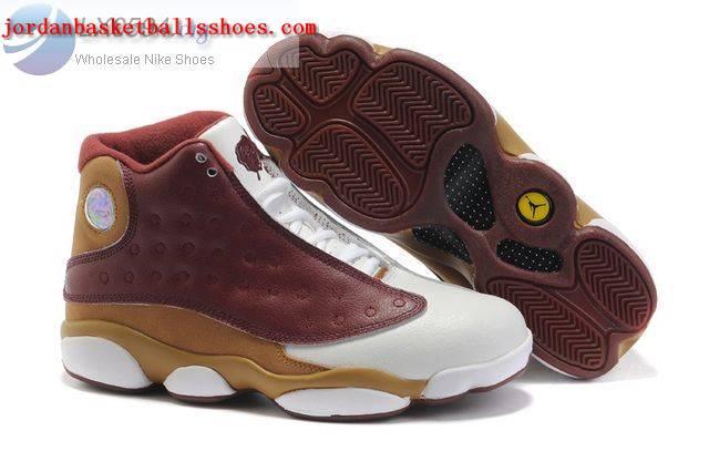 Sale Air Jordans 13 Women white brown gold Shoes On 1TOPJORDAN