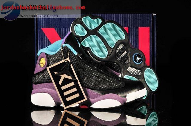 Sale Air Jordans 13 Women black purple white Shoes On 1TOPJORDAN