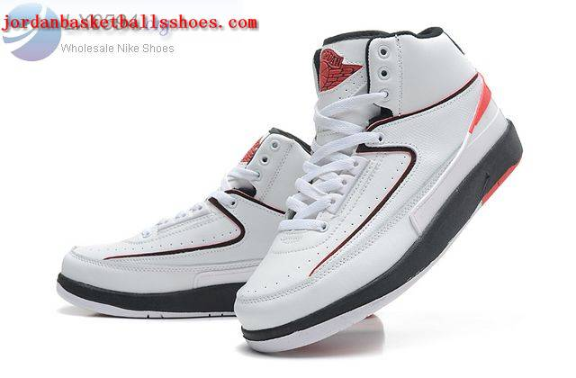 Sale Air Jordans 2 Retro White Black Shoes On 1TOPJORDAN