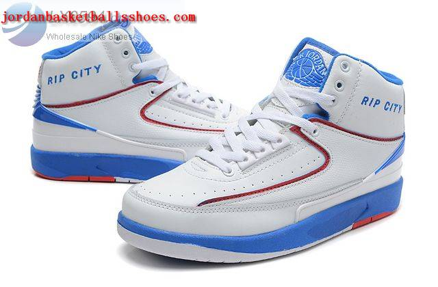 Sale Air Jordans 2 Retro White Blue Rip City Shoes On 1TOPJORDAN