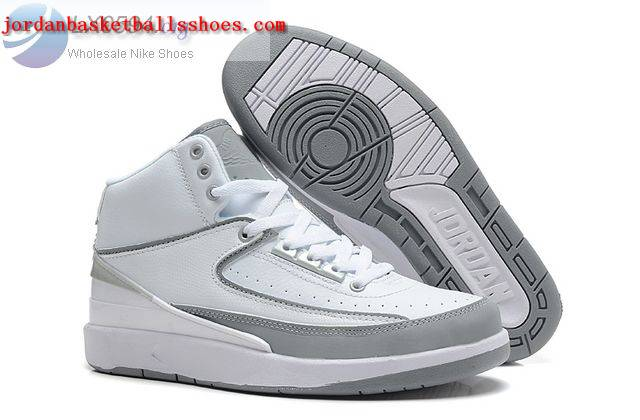 Sale Air Jordans 2 Retro White Grey Shoes On 1TOPJORDAN