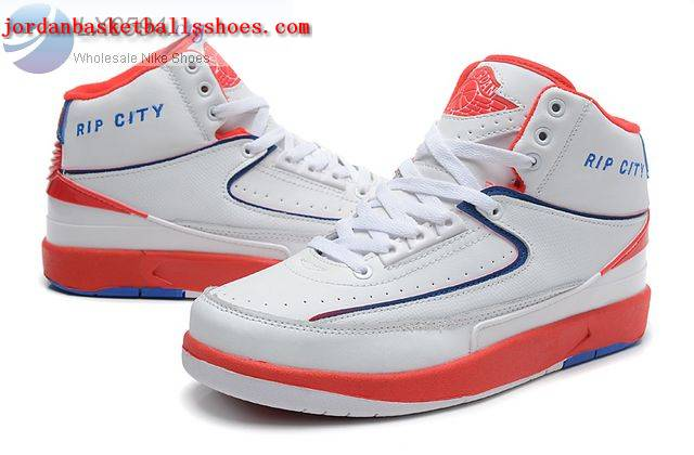 Sale Air Jordans 2 Retro White Red Rip City Shoes On 1TOPJORDAN
