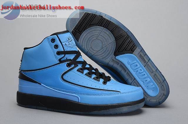 Sale Air Jordans 2 Retro Blue Black Shoes On 1TOPJORDAN