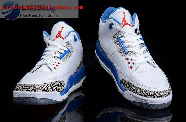 Sale Air Jordans 3 Retro cement white blue Shoes On 1TOPJORDAN