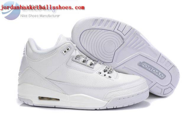 Sale Air Jordans 3 Retro all white Shoes On 1TOPJORDAN
