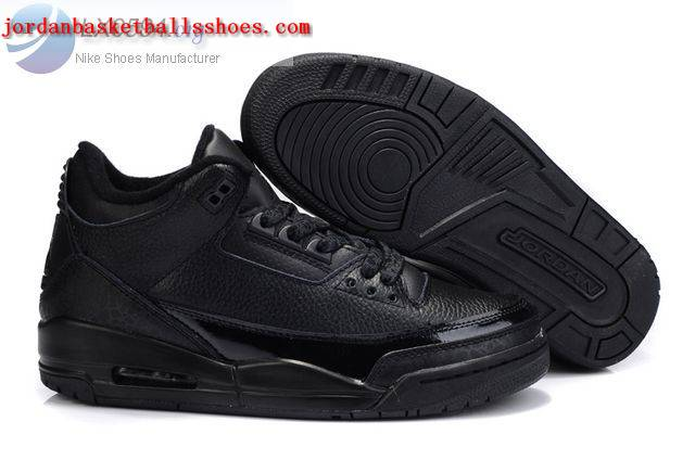 Sale Air Jordans 3 Retro all black Shoes On 1TOPJORDAN