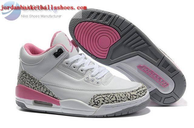 Sale Womens Air Jordans 3 cement white pink Shoes On 1TOPJORDAN