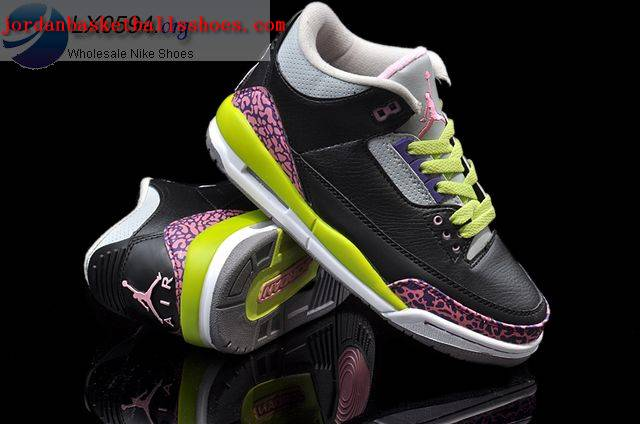 Sale Air Jordans 3 Cement Womens Black Volt Pink Shoes On 1TOPJORDAN