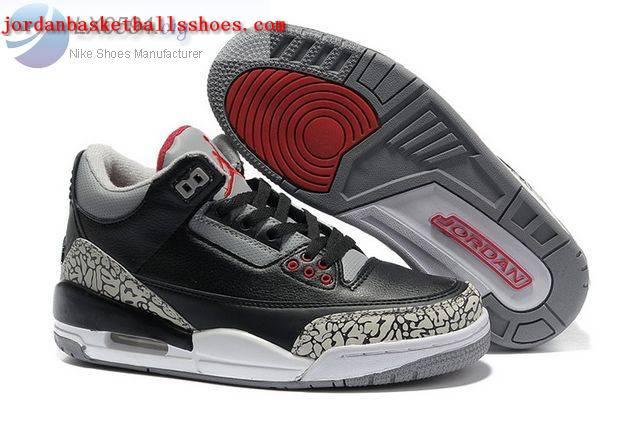 Sale Womens Air Jordans 3 black cement Shoes On 1TOPJORDAN