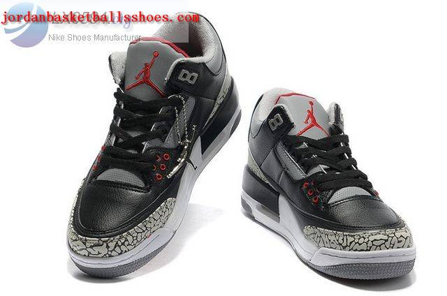 Sale Womens Air Jordans 3 black cement Shoes On 1TOPJORDAN - Click Image to Close