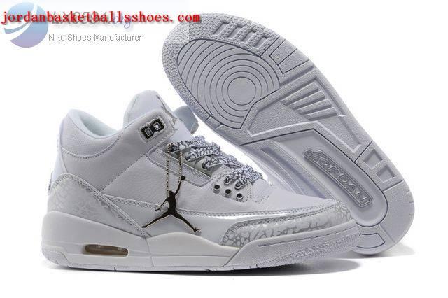 Sale Womens Air Jordans 3 cement all white Shoes On 1TOPJORDAN
