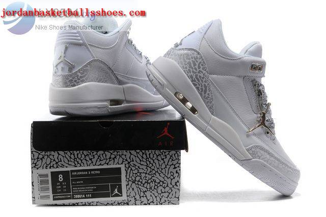 Sale Womens Air Jordans 3 cement all white Shoes On 1TOPJORDAN - Click Image to Close