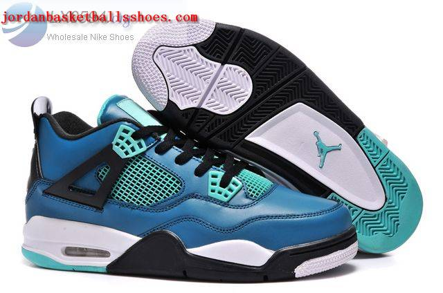 Sale 2015 Air Jordans 4 Teal Shoes On 1TOPJORDAN