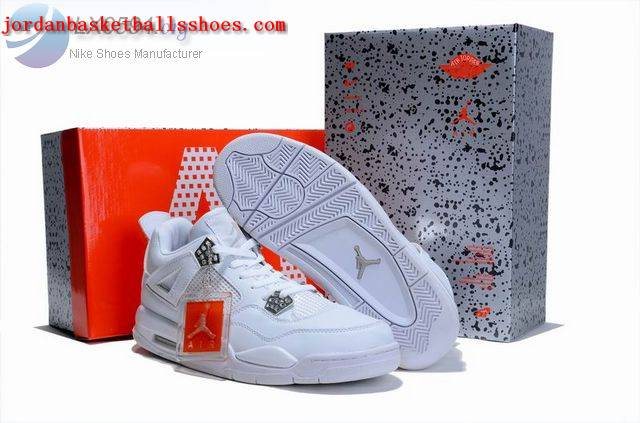 Sale Air Jordans 4 Retro all white Shoes On 1TOPJORDAN