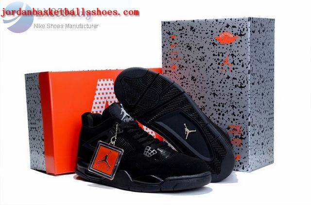 Sale Air Jordans 4 Retro All Black Shoes On 1TOPJORDAN