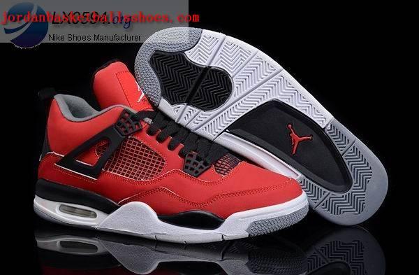 Sale Air Jordans 4 Retro Fire Red Toro Shoes On 1TOPJORDAN